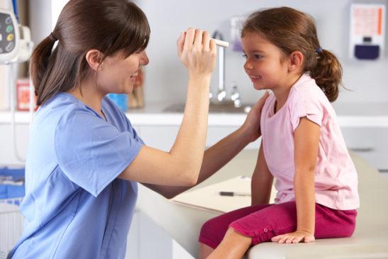 Снижение остроты зрения у детей и подростков